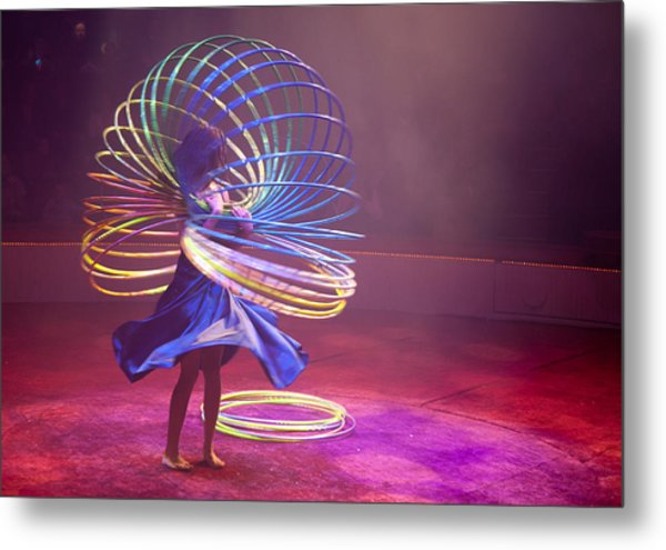 French Hula Hooping Metal Print
