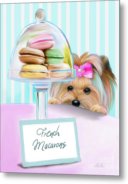 French Macarons Metal Print