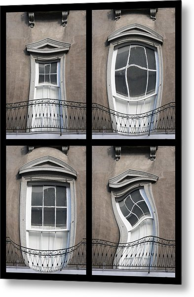 French Quarter Distorted Door Metal Print