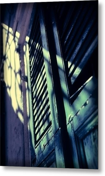 French Quarter Doors Metal Print