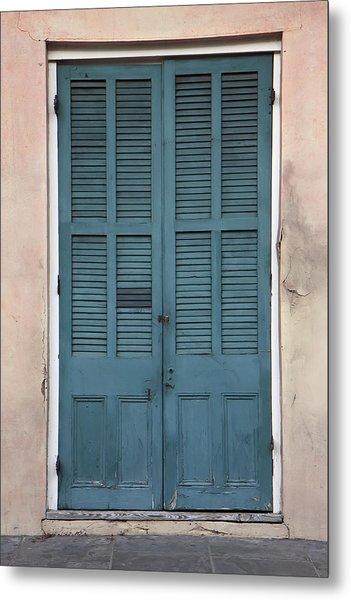 French Quarter Doors Metal Print