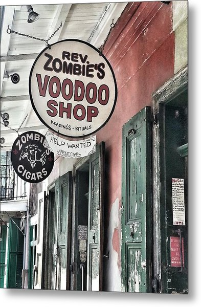 French Quarter Voodoo Shop Metal Print by Mike Barch