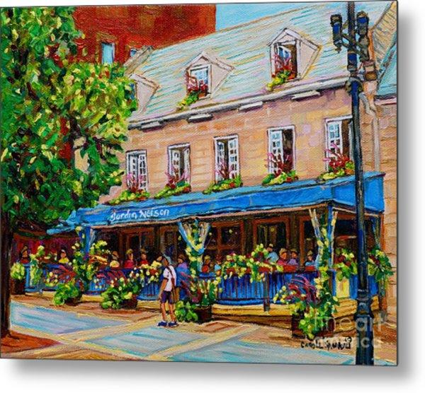 French Restaurant Jardin Nelson Paris Style Bistro Place Jacques Cartier Terrace Garden C Spandau   Metal Print