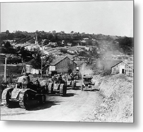 French Tanks Metal Print by Library Of Congress/science Photo Library