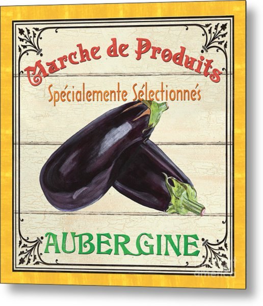French Vegetable Sign 3 Metal Print