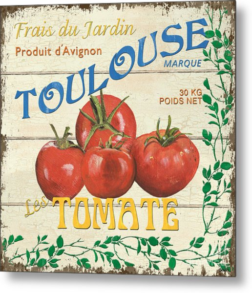 French Veggie Sign 3 Metal Print