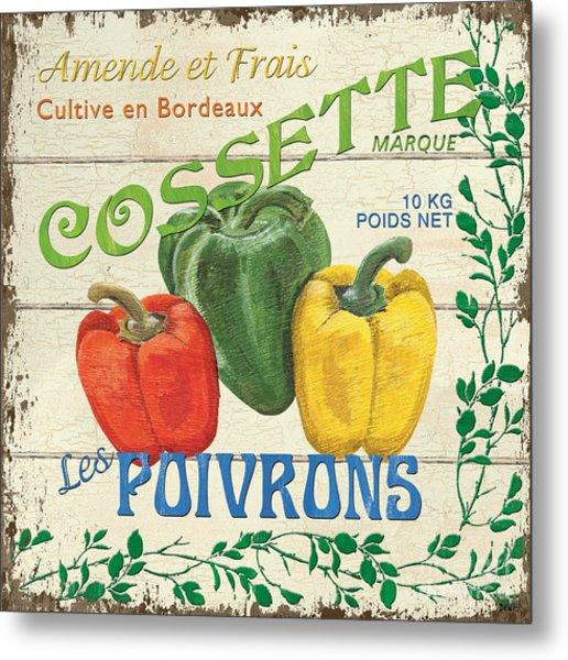 French Veggie Sign 4 Metal Print