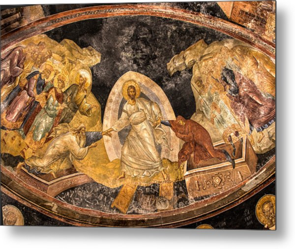 Fresco In Chora Church In Istanbul Metal Print