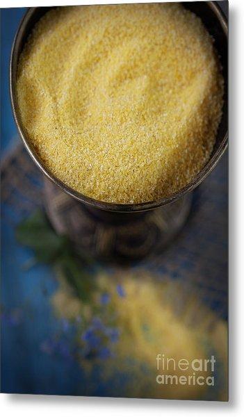 Fresh Corn Meal Metal Print