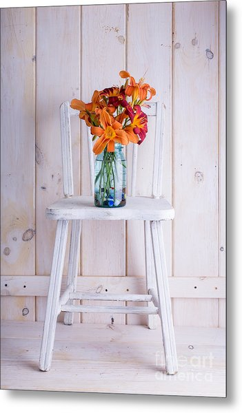 Fresh Day Lilly Flowers  Metal Print