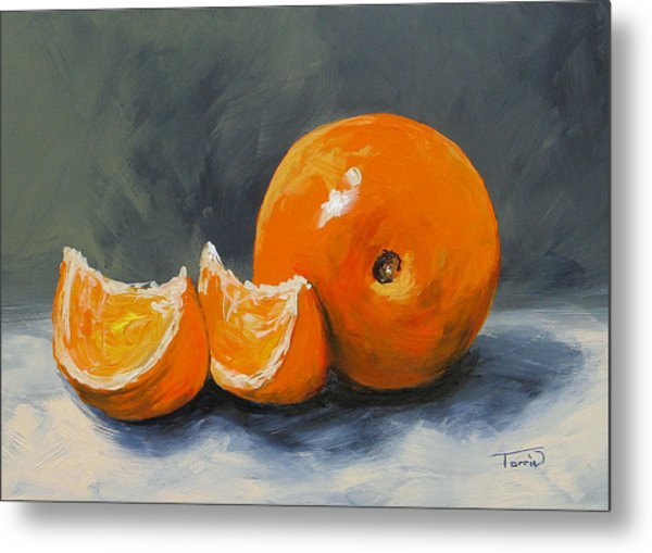 Fresh Orange IIi Metal Print