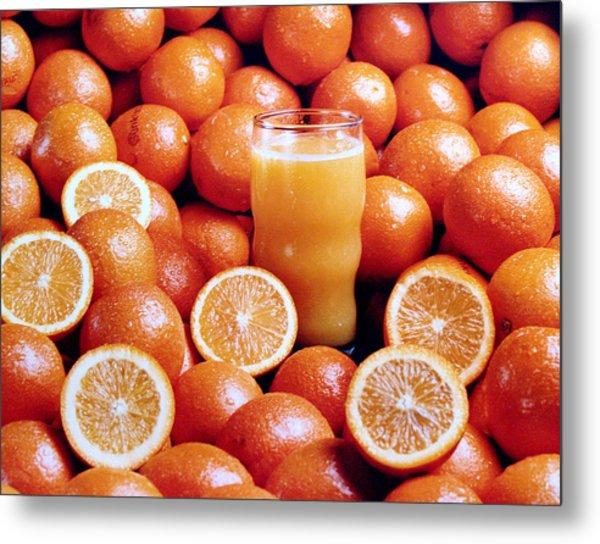 Fresh Orange Juice Metal Print