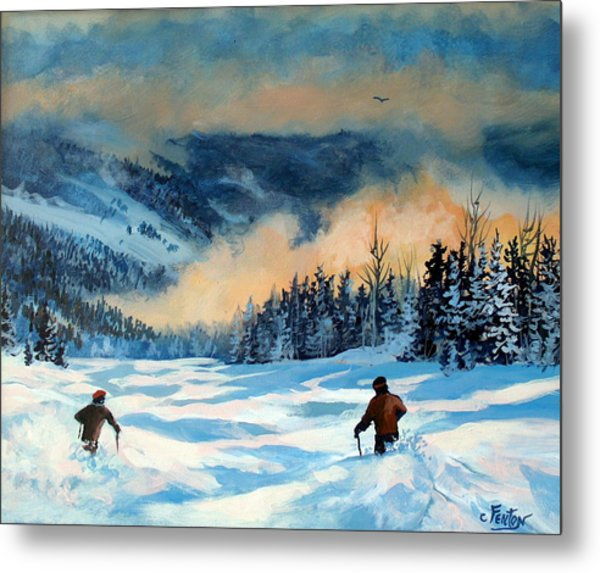 Fresh Powder Metal Print by W  Scott Fenton