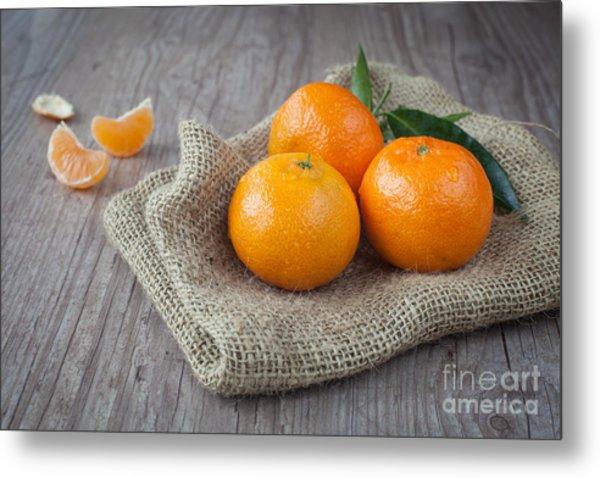 Fresh Tangerine Metal Print by Sabino Parente
