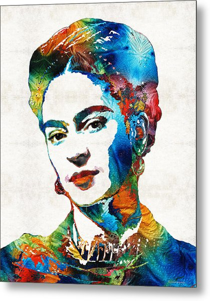 Frida Kahlo Art - Viva La Frida - By Sharon Cummings Metal Print