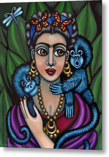 Frida's Monkeys Metal Print