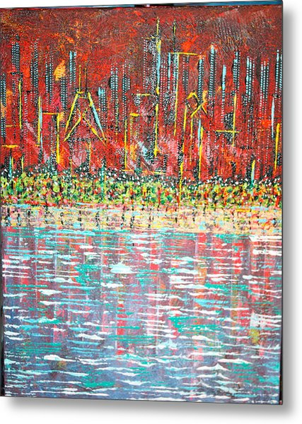 Friday At The Beach - Sold Metal Print