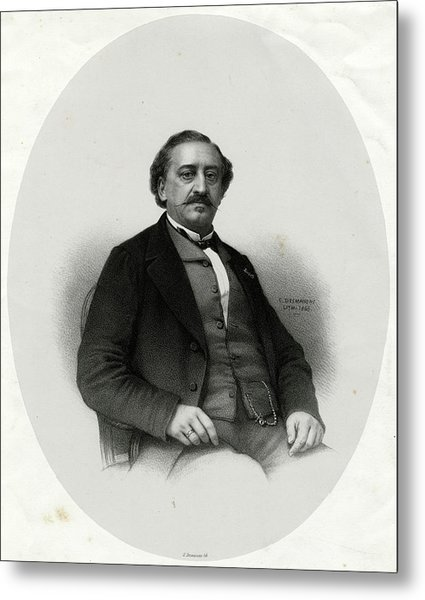 Friedrich Von Flotow  German Musician Metal Print by Mary Evans Picture Library