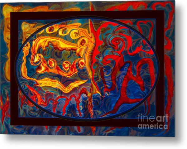 Friendship And Love Abstract Healing Art Metal Print