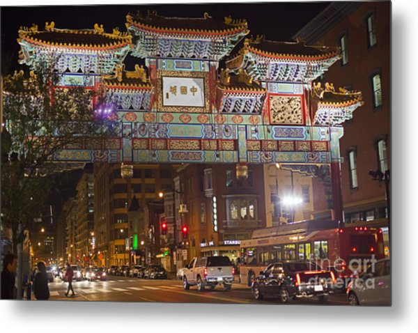 Friendship Archway In Chinatown Metal Print