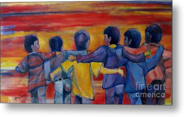 Friendship Walk - Children Metal Print