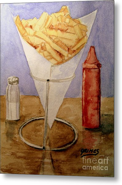 Fries For Lunch Metal Print