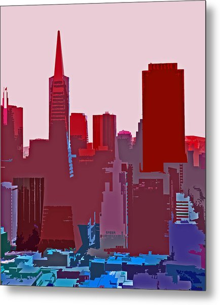 Frisco Skyline Metal Print
