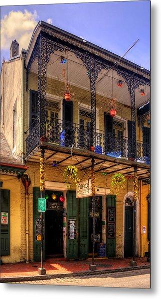 Fritzel's European Jazz Pub New Orleans Metal Print