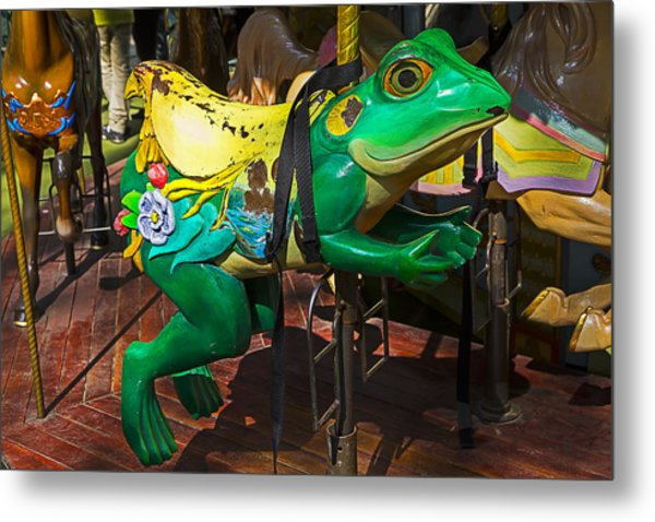 Frog Carrousel Ride Metal Print