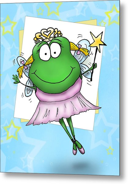 Froggy Fairy Metal Print by Nicole Spencer