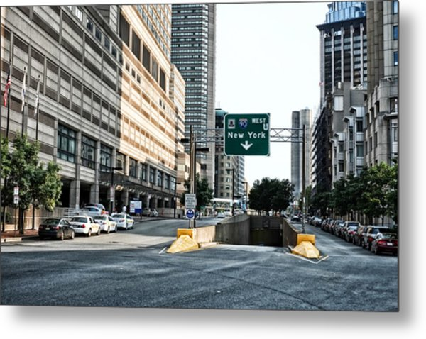 From Boston To New York Metal Print