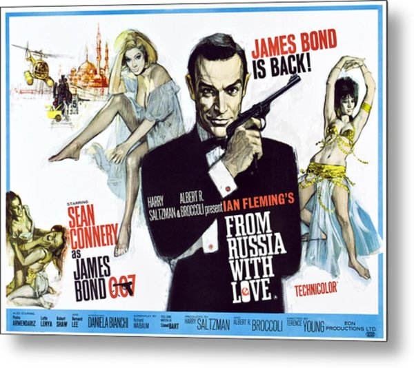 From Russia With Love, British Poster Metal Print