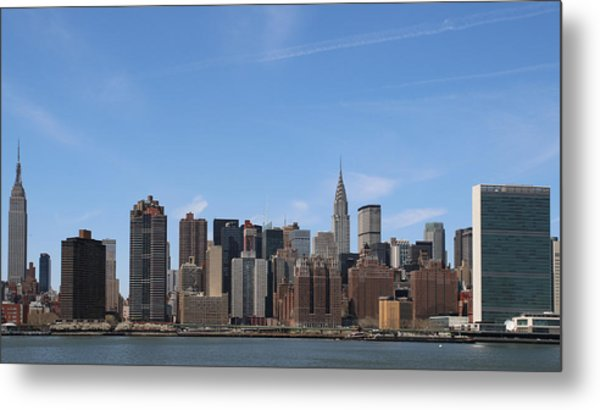 From The Empire State To The Un Metal Print