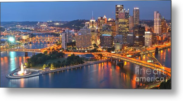 From The Fountain To Ft. Pitt Metal Print
