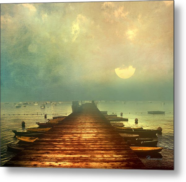 From The Moon To The Mist Metal Print