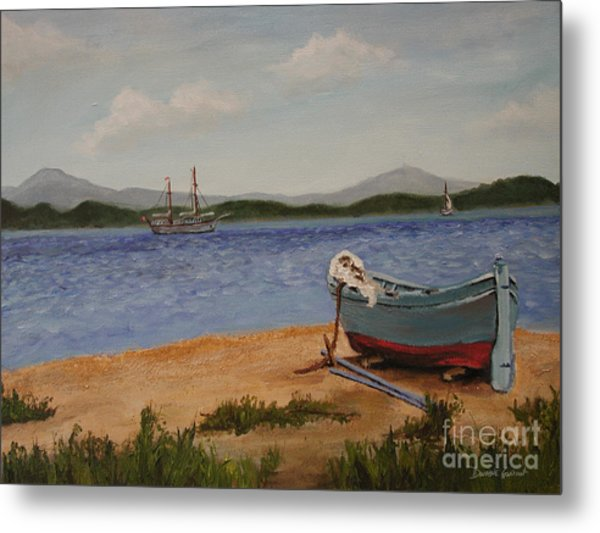 Metal Print featuring the painting From The Shore by Dwayne Glapion