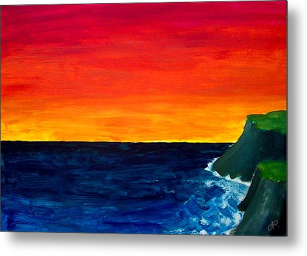 From Where The Sun Meets The Sea Metal Print