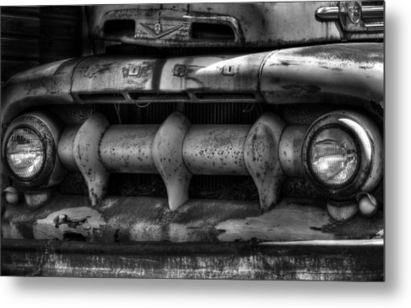 Front Of Fifty Two Ford Metal Print