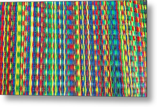 Front Porch Rug Metal Print by Larry Bodinson