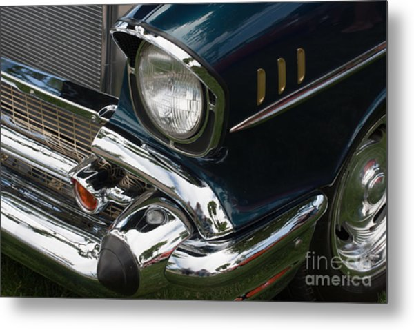 Front Side Of A Classic Car Metal Print