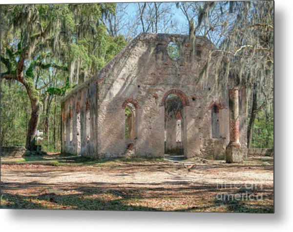Front View Of The Chapel Of Ease Metal Print