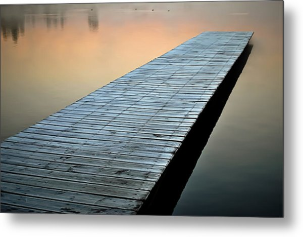 Frost On The Dock Metal Print