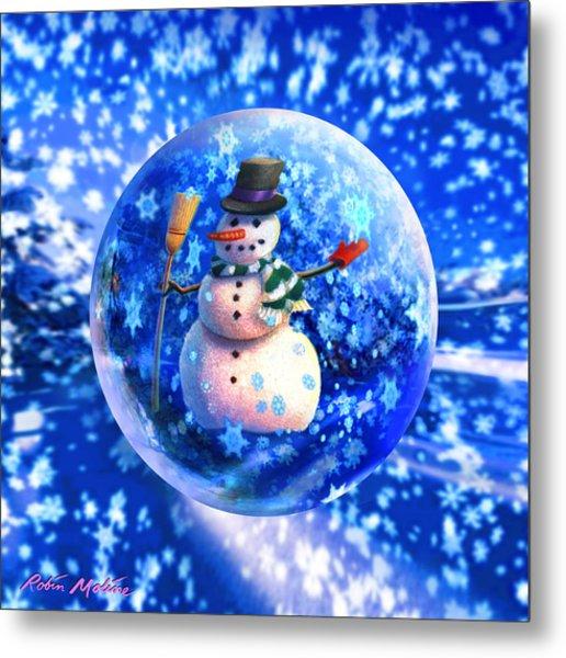 Frosty The Snowglobe Metal Print