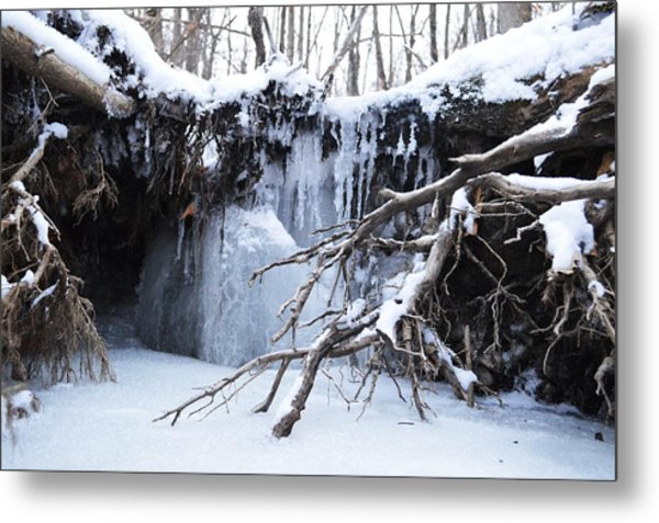 Frozen Creek Metal Print