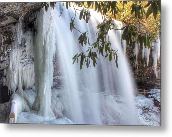 Frozen Dry Falls Metal Print