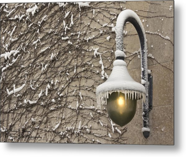 Frozen Illumination Metal Print