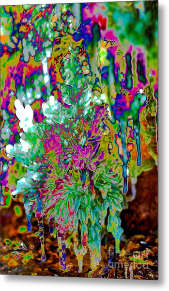 Metal Print featuring the digital art Frozen Juniper by Mae Wertz