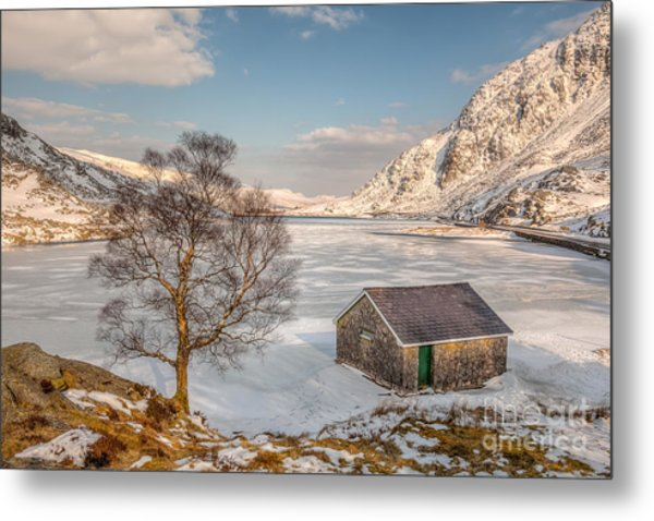 Frozen Lake Ogwen Metal Print