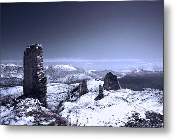 Frozen Landscape Metal Print