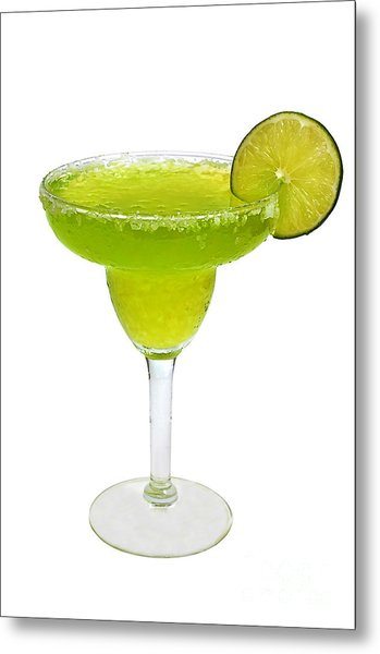 Frozen Margarita With Lime Isolated Metal Print